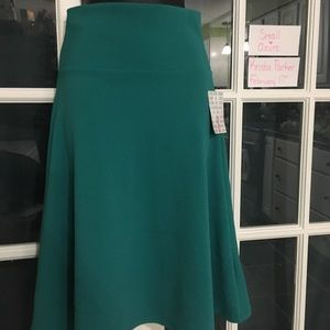 Small Azure A-Line Skirt Solid Teal NWT Lularoe